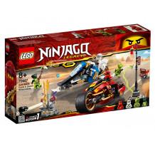 LEGO Ninjago, Vehiculele lui Kai si Zane - Motociclete Blade si snowmobilul 70667