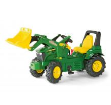 710126 - Tractor cu pedale Rolly Toys, John Deere 7930 cu anvelope pneumatice, schimbator de viteze si frana