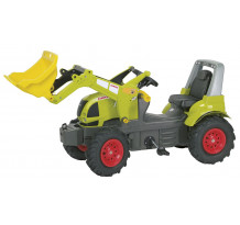 Tractor cu pedale Rolly Toys, Claas Arion 640 cu anvelope pneumatice