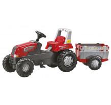 Tractor cu pedale Rolly Toys Junior cu remorca Farm Trailer