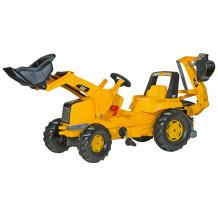 813001 - Tractor cu pedale Rolly Toys, CAT Trac cu excavator in spate