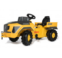 Camion cu pedale Rolly Toys, Volvo Dumper 881000