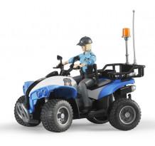 ATV de politie cu figurina femeie politist, Bruder 63010