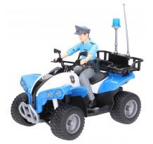 ATV de politie cu figurina politist, Bruder