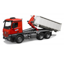 Camion Mercedes-Benz Arocs cu container Abroll, Bruder
