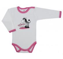 Body fetite cu maneca lunga, Zebra /Basic