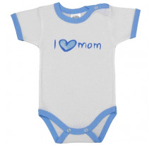 Body cu maneca scurta, I love mom, Basic