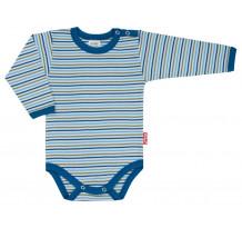 Body cu maneca lunga, albastru, cu dungi, PO5