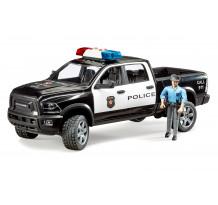 Masina de politie RAM 2500 Pickup cu figurina politist, Brduer 02505