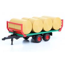 Remorca de transport baloti, Bruder 02220