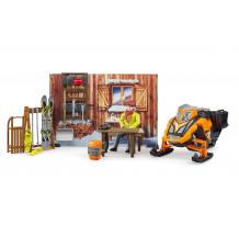 Cabana de munte cu Snowmobil si accesorii, Bruder 63102