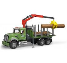 Camion forestier Mack cu macara, Bruder