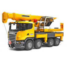 Camion Scania seria R cu macara Liebherr, Bruder 03570