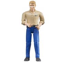 Figurina barbat cu camasa bej, Bruder bworld