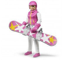 Figurina femeie cu snowboard, Bruder 60420