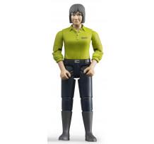 Figurina femeie cu bluza verde, Bruder bworld 60405