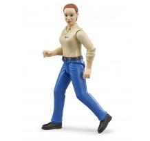 Figurina femeie cu camasa bej, Bruder 60408 bworld