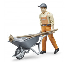 Figurina muncitor constructii cu accesorii, Bruder 62130