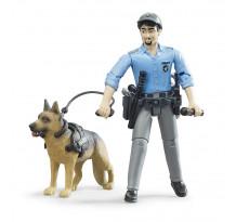 Figurina politist cu caine, Bruder 62150