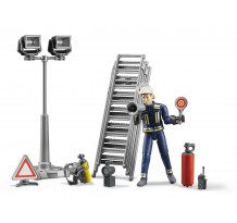Figurina pompier cu accesorii Bruder