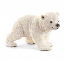 Figurina Schleich 14708, Pui de urs polar mergand