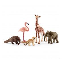 Figurina Schleich 42388, Animale salbatice asortate