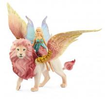 Figurina Schleich 70714, Elf pe leu inaripat