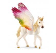 Figurina Schleich bayala 70577, Unicorn curcubeu Curbat Manz