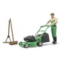 Gradinar cu masina de tuns iarba si unelte, Bruder 62103