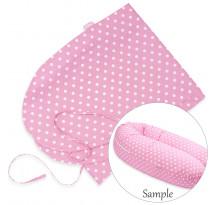 Husa bumbac pentru perna Scamp, 160 cm, Dots Pink