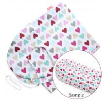 Husa bumbac pentru perna Scamp, 160 cm, Colorful Heart