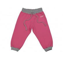 Pantaloni jogging copii DAN roz fucsia-gri
