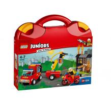 LEGO Juniors, Valiza Patrula de pompieri 10740