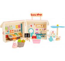 Magazin in cutie, din lemn