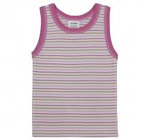 Maieu pentru fete, alb cu dungi roz, PO42