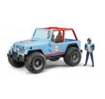 Masina albastra de teren cu sofer Bruder 02541