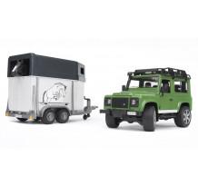 Land Rover Defender Station cu remorca de cai, Bruder 02592