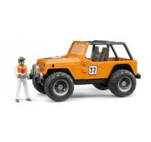 Masina portocalie de teren cu sofer Bruder 02542