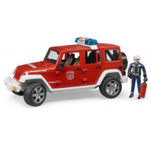Masina de pompieri Jeep Wrangler Rubicon cu pompier, Bruder
