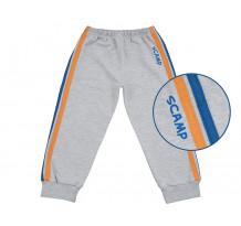 Pantaloni trening cu elastic in talie gri cu dungi