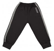 Pantaloni trening cu elastic in talie negru grafit-gri