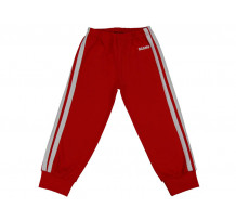 Pantaloni trening copii cu elastic in talie rosu aprins