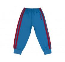 Pantaloni trening cu elastic in talie albastru cu dungi