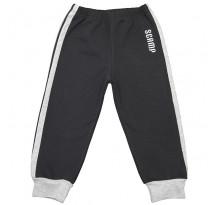 Pantaloni trening cu elastic in talie negru