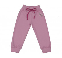 Pantalonasi cu banda lata in talie roz iaurt