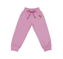Pantalonasi cu banda lata in talie roz crin