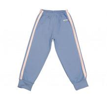 Pantaloni trening copii cu elastic in talie albastru deschis-alb