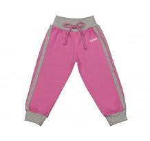 Pantaloni trening pentru fetite, roz-gri