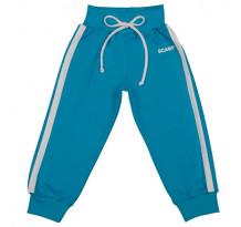 Pantaloni trening cu banda lata in talie, albastru