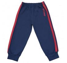 Pantaloni trening cu elastic in talie, albastru inchis cu dungi rosii